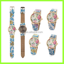 Fashion design Leather leisure flower watch