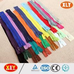 3# zipper nylon teeth with colorful tape nylon zipper with closed end normal nylon zipper