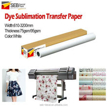 high speed printing 70gsm 90gsm sublimation transfer paper for large format printer
