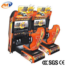 Video arcade car racing simulator game machine online play for boys motorcycle two players Raging Fire Racing 42LCD (singel)