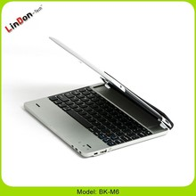 For ipad 2 bluetooth keyboard case with stand, aluminium keyboard case for ipad 4, aluminium keyboard with battery for ipad 4