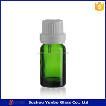 High Quality Glass Vials Wholesale Tamper Resistant Cap 10ml Green Glass Dram Vials for Diffusing Perfume, Essential Oil, Vapor