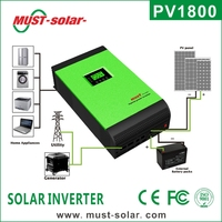 <Must Solar> PV1800 series pure sine wave off grid 3KVA 24vdc to 230vac high frequency Inverter for Solar Power System