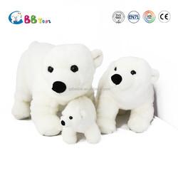 Christmas soft plush Polar Bear toys for kids