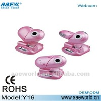 Lovely pink color usb computer toy webcam