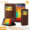 BRG Genuine Leather Card Holder Flip Case For Note 5 ,Mobile Phone Cover For Samsung Case