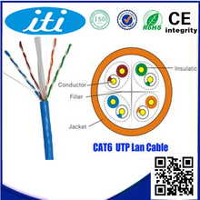 2015 Best Price UTP Cat 6 Cable 8 conductors 100% pure copper 23 awg UTP Cat 6 Cable
