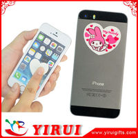 YS118 self adhesive microfiber screen cleaner for mobile phone
