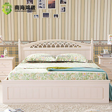 Latest Design Wooden Double Bed Furniture with storage