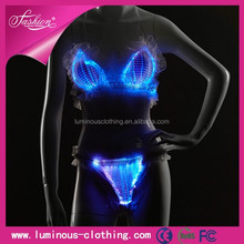 Amazing led sexy women underwear led lingerie glow in the dark lingerie