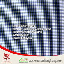 wholesale 100% cotton long stapled twill check fabric