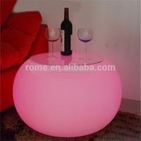 Modern Home Decorative LED Furniture Plastic Illuminated LED bar table
