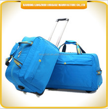 2015 new designed travelling trolley hand bag new style luggage bag wheeled handle bags
