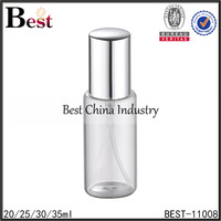 30ml clear cosmetic empty packaging for perfume