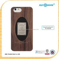 100% Hand-made Real Carbonized Bamboo Wood Hard Shell Case for iPhone 5s 6 6 plus 6s