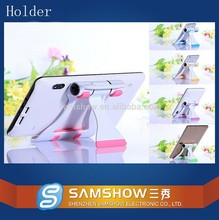 2015 Wholesale Portable Mobile Phone Rotating Flexible Tablet Security Holder Folding