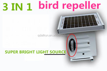 ALL IN ONE rechargeable ultrasonic solar bird repeller for driving birds