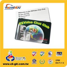 High quality standard plastic magnetic stripe hotel key card