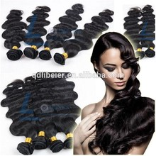 Libeier extension hair , top grade unprocessed high quality 100% human hair extension
