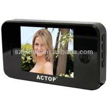 home 3.5inch digital door viwer door bell automatically take photo