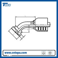 87641-RW SAE Flange Series 45 degree elbow 87641-RW 6000PSI ISO 12151-3-SAE J516 male and female face flange