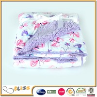 2015 hot selling 100% polyester imitated sherpa fleece fabric for Baby Blanket, cushions, pillows