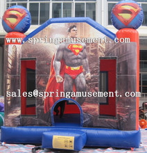 High quality and popular Superman inflatable bouncy castle, jumping castles SP-PP015