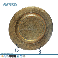 Sanzo Custom Glassware Manufacturer Wholesales Round Beaded Glass Plate