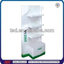 TSD-W928 MDF Darlie toothpaste display stand with 3 shelf/promotional toothpaste floor display/toothbrush gift set display
