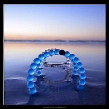 Factory directly Promotional Dead Sea Mt.Everest Ball Bead Shape Silicone Bracelet