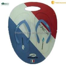 2015 latest PE flag board slipper cute brand customized sublimation flip flops