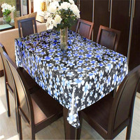 China factory plain dyed printed pvc table cloth