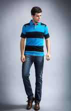 Polo t-shirt/100% cotton t-shirts/men polo shirt