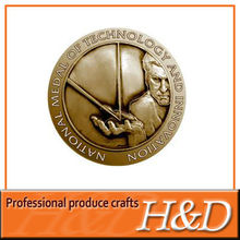 2012 Top selling Zinc alloy material brass color antique coin for collection