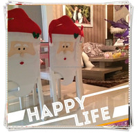 [JOY] HOT 1 PCS Mr Santa Claus Christmas Chair Cover Xmas Dinner Home Party Decor Chair Cover Decorations