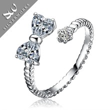 fashion new design jewelry in silver diamond ring,wedding ring for women