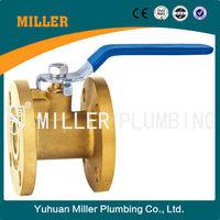 1 inch MILLER PLUMBING CO.,LTD ML-1402 trade assurance brass material lever handle for water Flange Brass Ball Valve