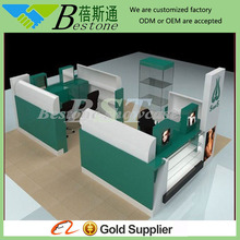 green mall eyebrow kiosk/ eyebrow threading kiosk for sale