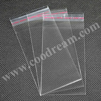 5x10cm Clear Plastic Resealable Cellophane Gift Bags/Gift Package Bag