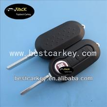 Big Discount 3 button modified flip key fob case for fiat 500 key cover plastic car key case