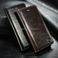 High quality pu leather case stand flip cover for iphone 6 6 plus