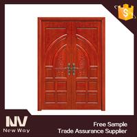 new design exterior 2 way swing door wooden