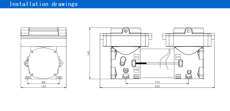 Scuba diving compressor for sale 12v 113.2L/M 25PSI