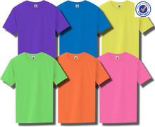 custom fashion colorful neon t shirts wholesale