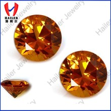 Created Round Brilliant Cut Top Quality Good Price for Orange Sapphire