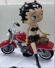 Custom Bbetty Wear Hot Bikini Sitting Craft, Motorcycle Betty Boop Statue, Resin Figurine