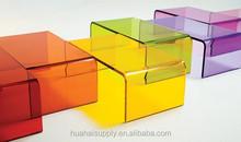 colorful acrylic tea table furniture