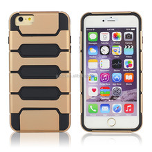 New wholesale tank style design hard ruuged protective PC+TPU case for iPhone 6 Plus 5.5
