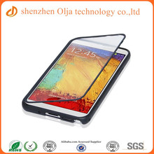 Olja patent flip touch screen protector cheap mobile phone case, smart touch mobile phone case for iphone 6