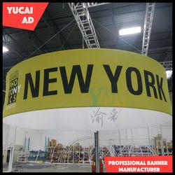 Promotional circle hanging banner light aluminum frame
